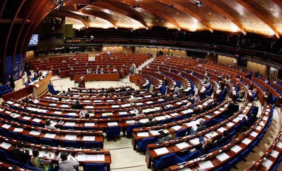 La Asamblea Parlamentaria del Consejo de Europa durante un debate en Estrasburgo.