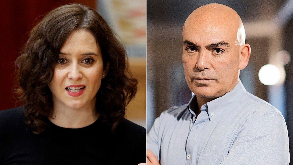 Isabel Díaz Ayuso y Kike Sarasola.