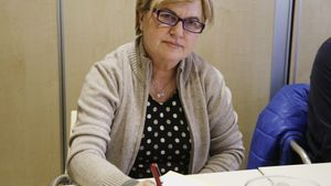 La diputada nacional Isaura Leal, miembro de la ejecutiva de Pedro Sánchez y ahora presidenta de la gestora del PSOE de Madrid, el 19 de febrero de 2018 en Ferraz.