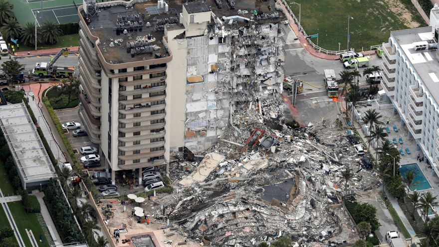 Ascienden a 20 las víctimas del edificio derrumbado en Miami