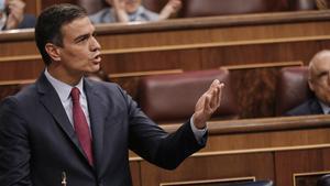 El presidente del Gobierno, Pedro Sánchez, en el Congreso, el pasado 22 de julio.