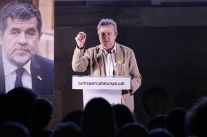 El presidente de la Crida y diputado de JxCat en el Parlament, Toni Morral, en un homenaje a Jordi Sànchez.