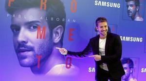 Pablo Alborán, el viernes en Madrid, donde presentó su nuevo disco, 'Prometo'