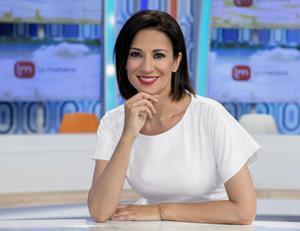 La presentadora Silvia Jato, en el plató de 'La mañana' de TVE-1.