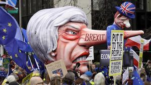Manifestación en Londres pidiendo un segundo referéndum del 'brexit'.