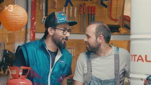 Jair Domínguez y Peyu, en 'Bricoheroes'.