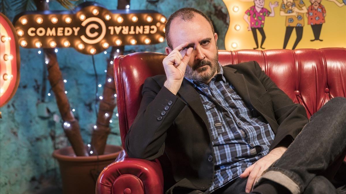 Carlos Areces, en el especial sobre 'La hora chanante' de Comedy Central.