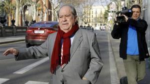 Lluís Prenafeta, tras declarar en la Audiencia de Barcelona, en enero del 2009.