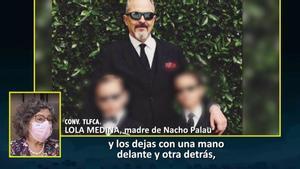 Imagen de las declaraciones previas de Lola Medina, madre de Nacho Palau y nueva invitada de 'Sábado deluxe'