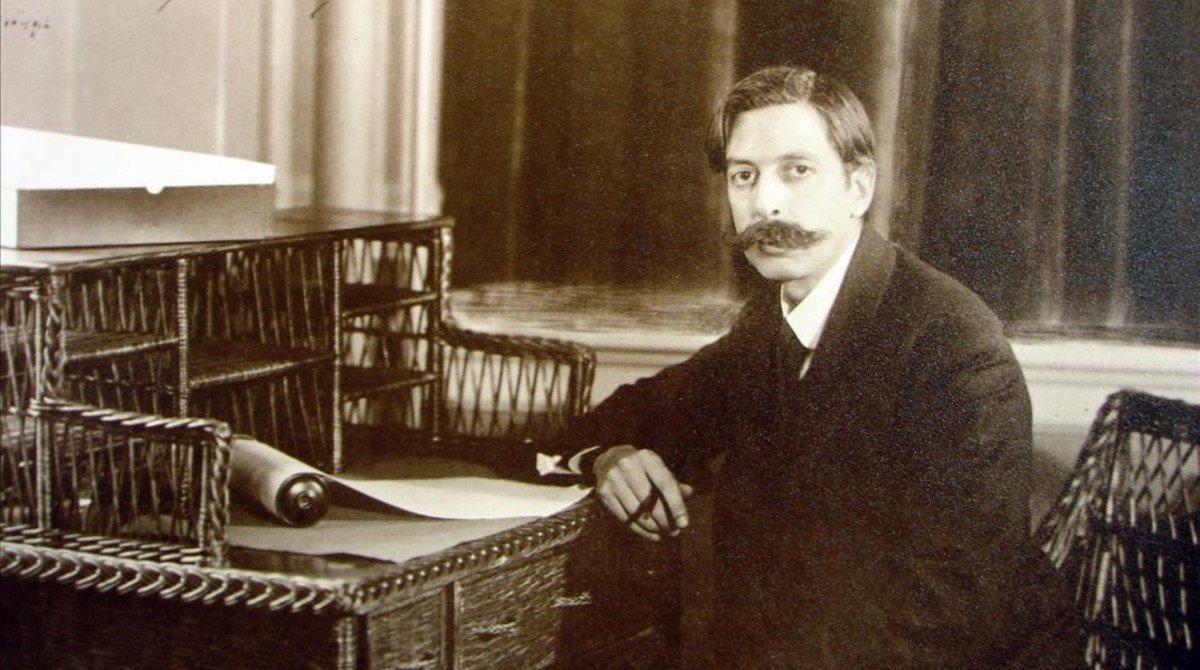 Enric Granados en la casa Eolian de Nueva York, en 1916, poco antes de morir en el mar tras ser hundido el barco en el que viajaba de regreso a España por la marina alemana.