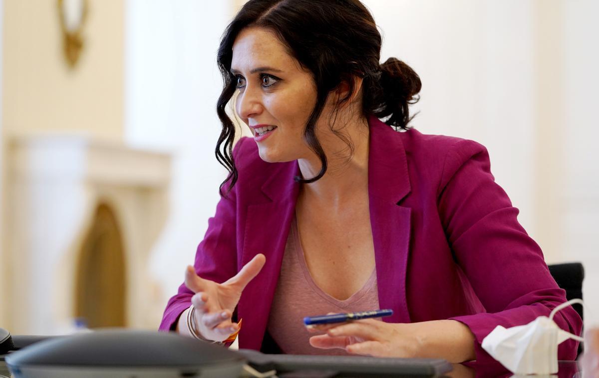 Isabel Díaz Ayuso, candidata del Partido Popular a la Comunidad de Madrid, durante la entrevista.