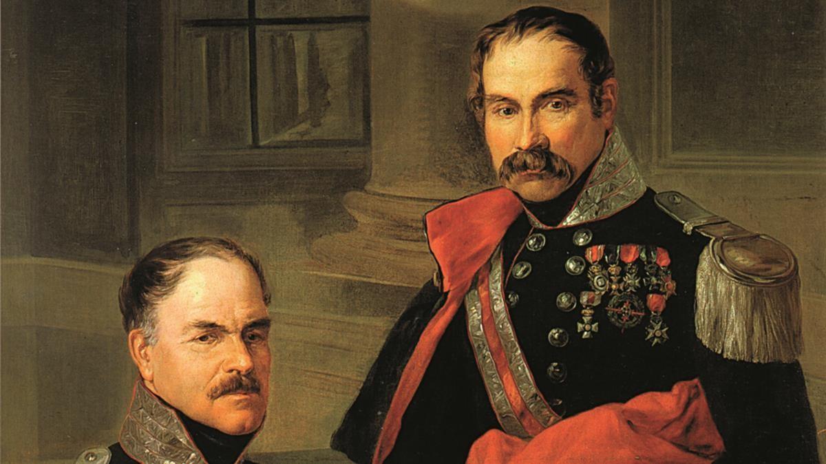 Baldomero Espartero y Rafael Maroto, en una imagen sacada del libro 'A golpe de sable', de Gabriel Cardona.