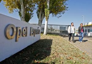 Entrada a la planta d'Opel en Figueruelas (Saragossa).