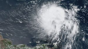 Imagen de satélite de la tormenta Dorian.