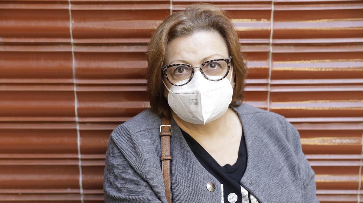 Teresa Peraire, vacunada de covid.