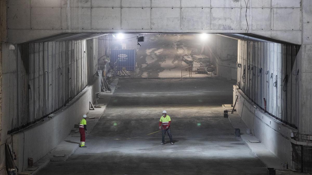 Las obras del túnel de Glòries encaran la recta final con más del 85% del proyecto ejecutado