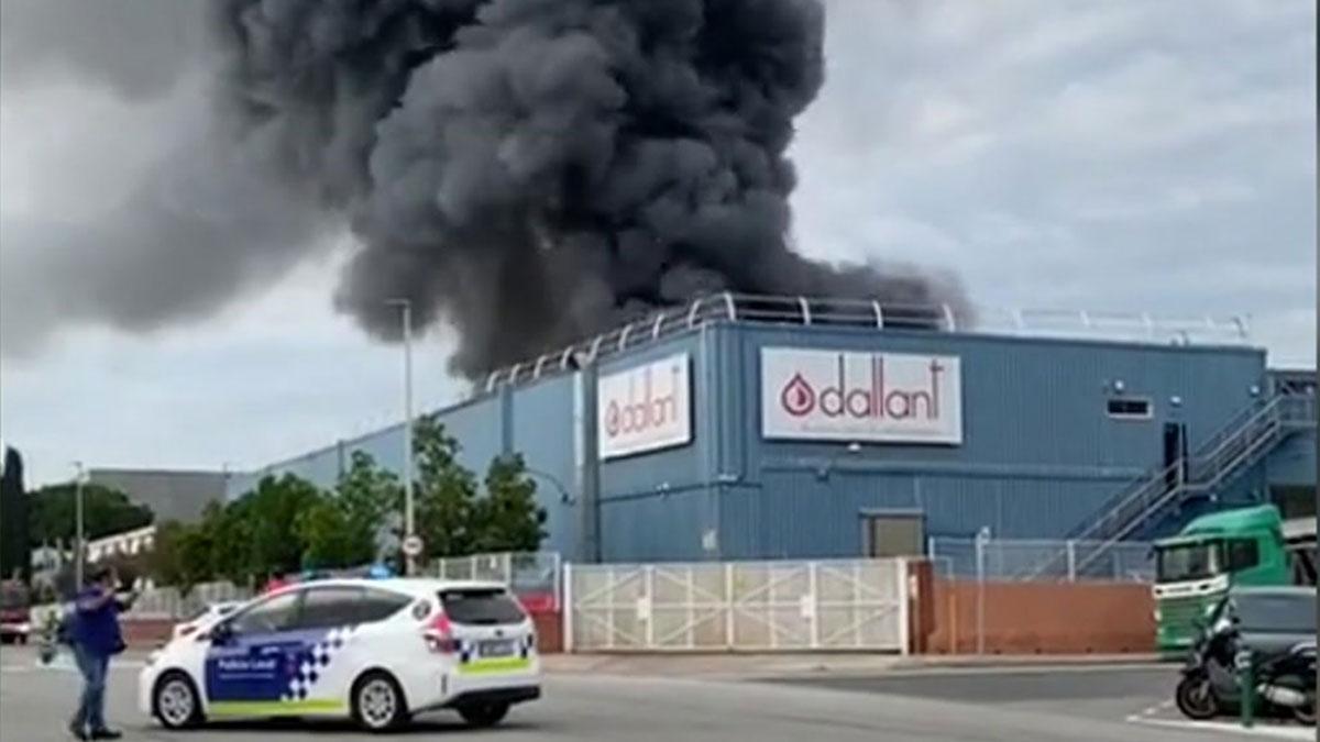 Incendio en la empresa Dallant de Sant Feliu