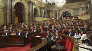Pleno del Parlament del pasado 22 de marzo en el que se aprobó el proyecto de presupuestos.