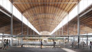 Imagen virtual del futuro mercado de la Abaceria, en Gràcia.