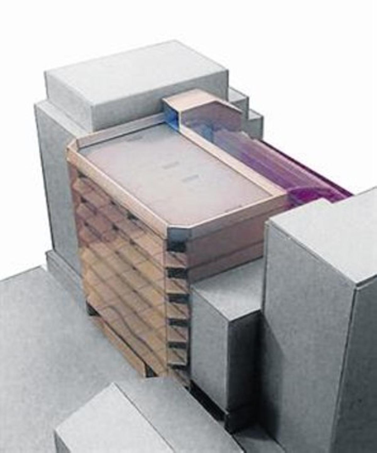 Imagen virtual del edifico de La Borda.