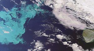 Vista aérea del Ártico.