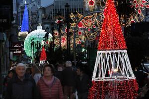 Luces de Navidad en el casco urbano de Vigo.