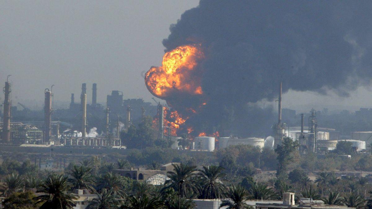Imagen de archivo de un ataque con cohetes.