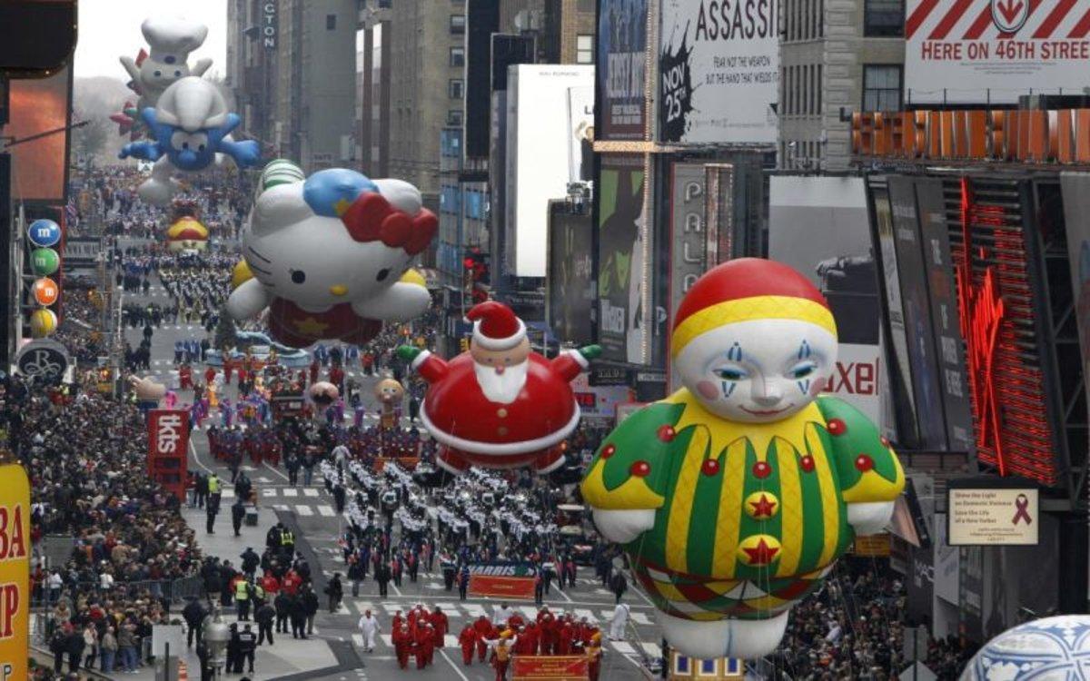 Desfile del Día de Acción de Gracias en Nueva York.