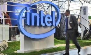 Estand de Intel en una feria tecnológica en Hannover (Alemania).
