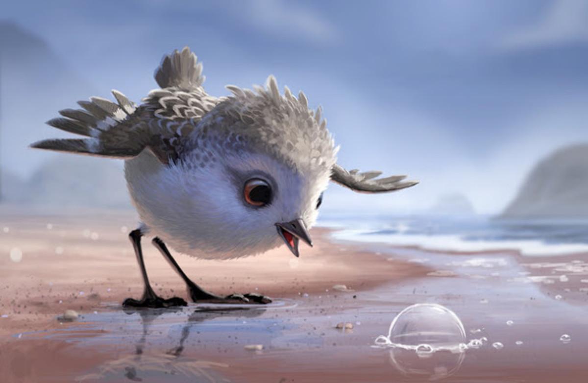 Piper, el pequeño correlimo que protagoniza uno de los más bellos cortos de Pixar.