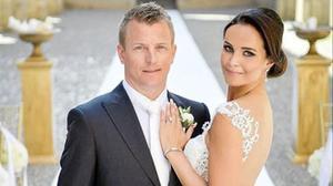 Kimi Raikkonen y Minttu Virtanen, recién casados.