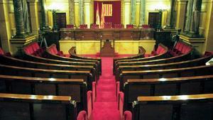 Una imagen del Parlament de Catalunyavacío.