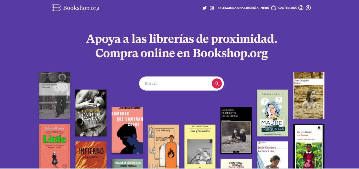 Bookshop.org la plataforma al servicio de las librerías locales.