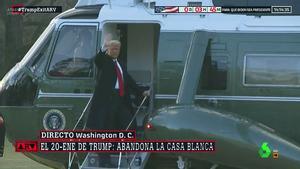 Trump se va como Franco: en helicóptero