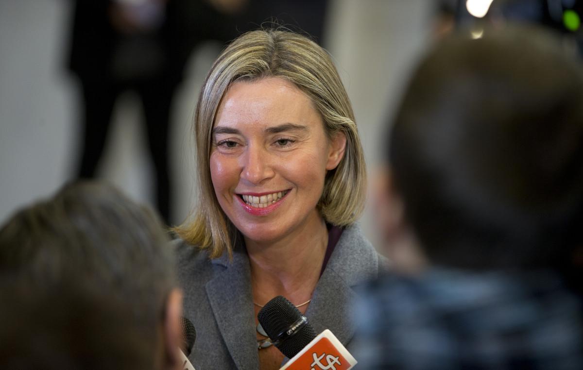 La alta representante de la UE,Federica Mogherini.