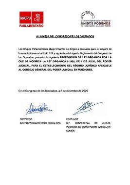 Proposición de Ley presentada por el PSOE y Unidas Podemos