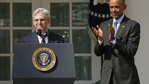 El juez Merrick Garland junto al presidente Barack Obama, en marzo de 2016.
