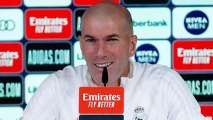 Zidane, en la rueda de prensa de este martes.