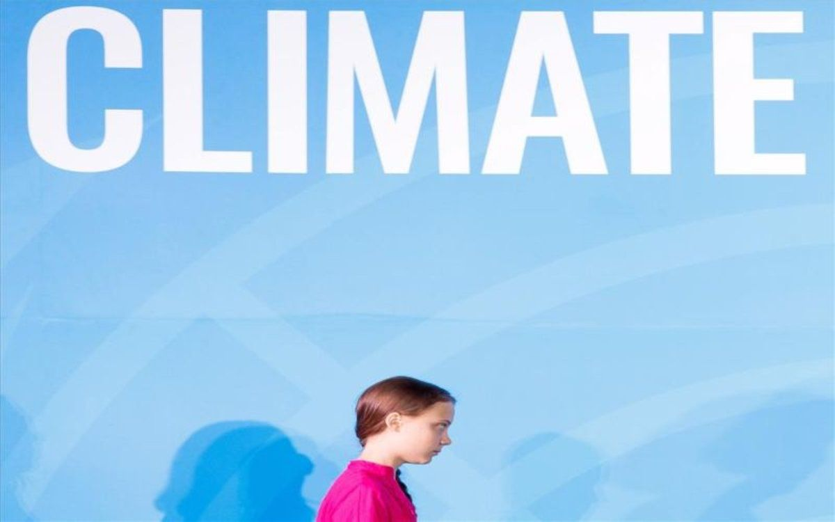 La joven activista sueca Greta Thunberg, participa en la Cumbre de Acción Climática, en la sede de Naciones Unidasen Nueva York.