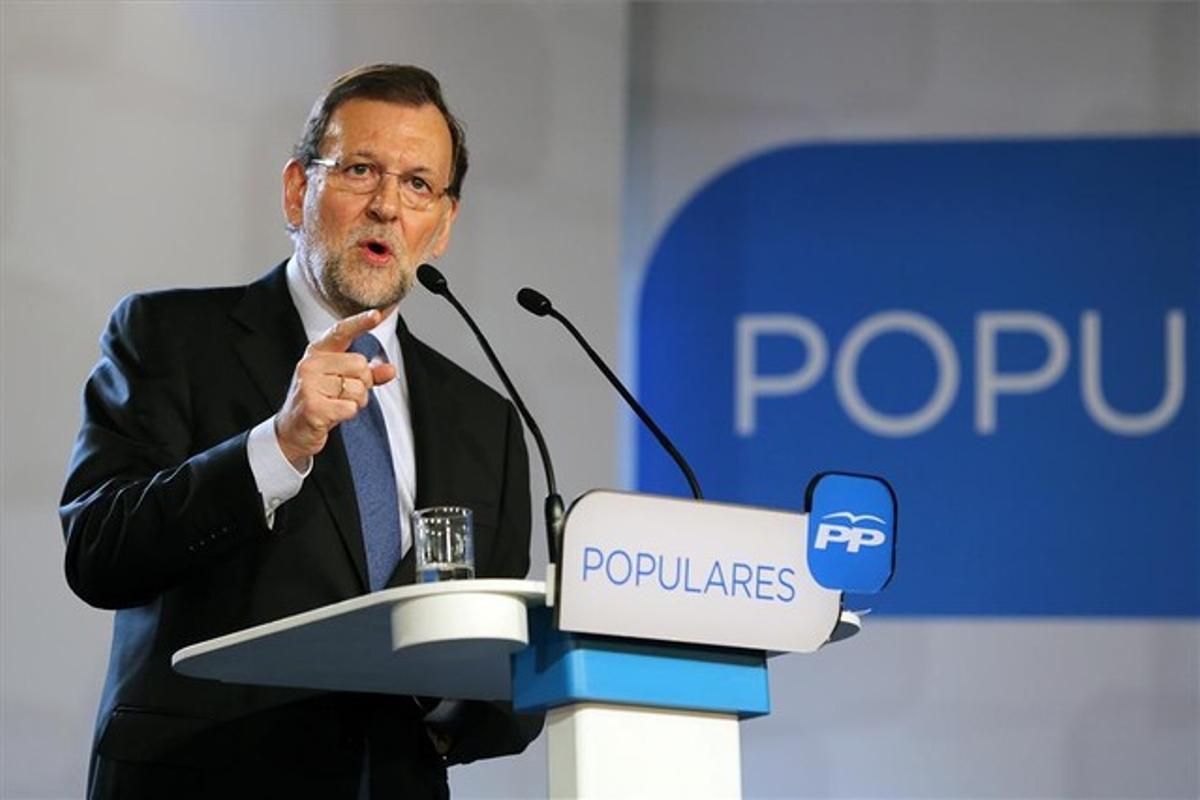 Rajoy en un reciente acto del Partido Popular.
