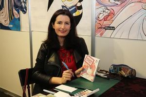 La dibujante de manga Elsa Brants, en el Salón del Manga de Barcelona.