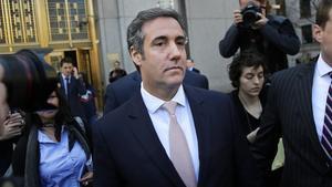 El abogado de Donald Trump, Michael Cohen, a la salida deltribunal federal en Nueva York el 26 de abril del 2018.