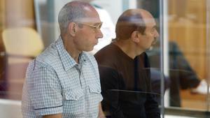 Santi Potros y Rafel Caride Simón, durante el juicio por el atentado de Hipercor.