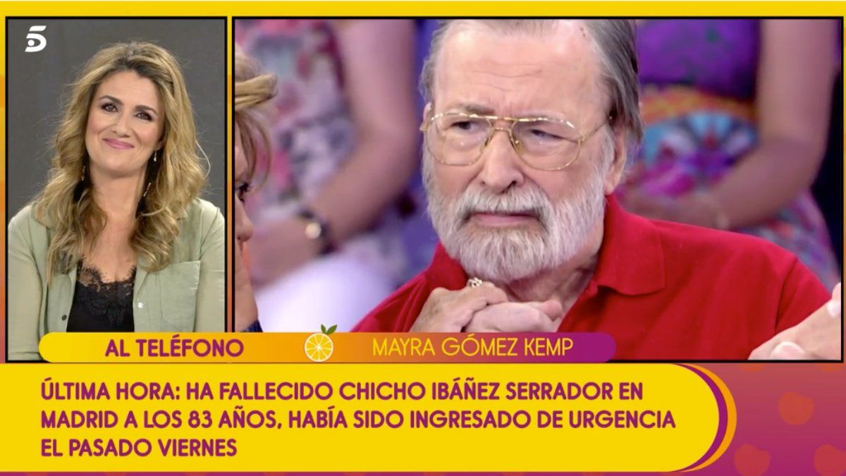 Mayra Gómez Kent hablando con Carlota Corredera en 'Sálvame'.