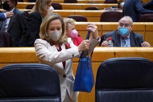 Sesión de control al Gobierno en el Senado , en la imagen Nadia Calviño.