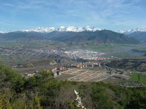 Vista general de Sabiñánigo, Huesca.