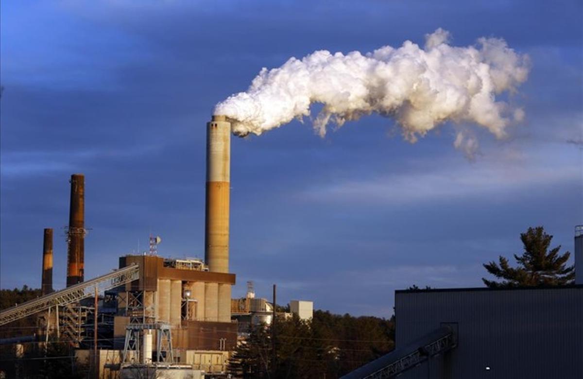 Una central térmica alimentada con carbón, en New Hampshire, Estados Unidos.