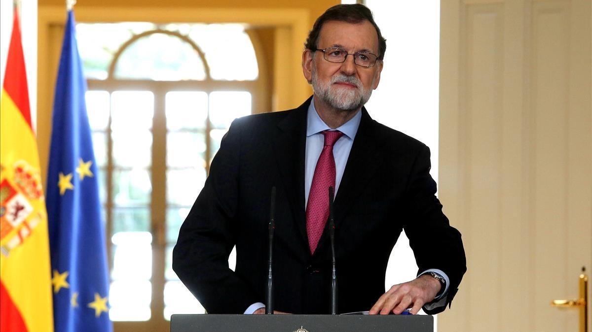 El presidente del Gobierno, Mariano Rajoy, en la rueda de prensa ofrecida el 29 de diciembre en la Moncloa.
