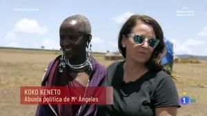 Mariángeles, con su abuela política (TVE-1).