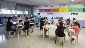 Un aula de primaria de una escuela.